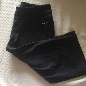Nike Pants - Nike- Black Yoga Capris- Dri Fit- size L